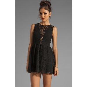 For love and lemons black lace mini dress
